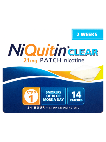 NiQuitin Clear 21mg Patch 24 Hour Step 1 14 Patches