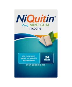 NiQuitin 2mg Mint Gum 24 Pieces