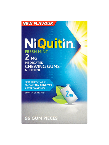 NiQuitin Fresh Mint 2mg Medicated Chewing Gums 96 Gum Pieces