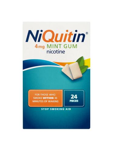 NiQuitin 4mg Mint Gum 24 Pieces