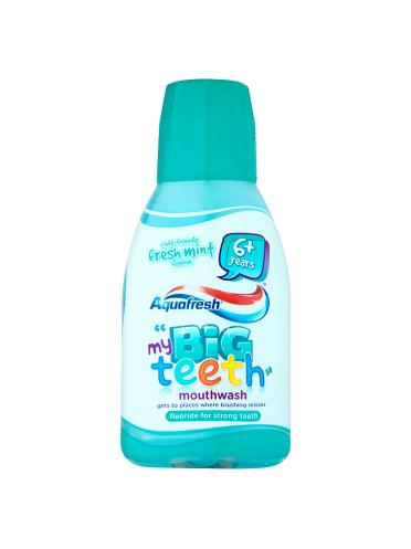 Aquafresh My Big Teeth Mouthwash Child-Friendly Fresh Mint Flavour 6+ Years 300ml