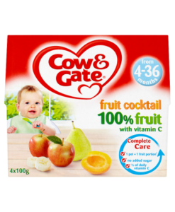 Cow & Gate Fruit Cocktail 100% Fruit with Vitamin C from 4-36 Months 4 x 100g (400g)