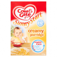 Cow & Gate Sunny Start Creamy Porridge from 4-6m Onwards 125g