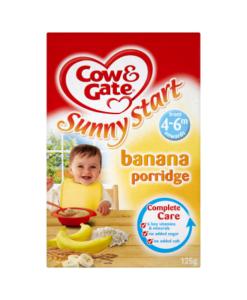 Cow & Gate Sunny Start Banana Porridge from 4-6m Onwards 125g