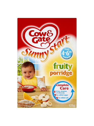 Cow & Gate Sunny Start Fruity Porridge from 4-6m Onwards 125g