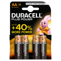 Duracell Plus Power AA Alkaline Batteries 4 counts
