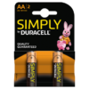 Duracell Simply AA Alkaline Batteries 2 counts