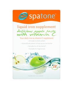 Spatone Liquid Iron Supplement Apple Taste with Vitamin C 28 Daily Sachets 700ml