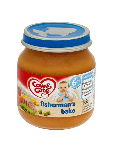 Cow & Gate Fisherman's Bake from 6m Onwards 125g