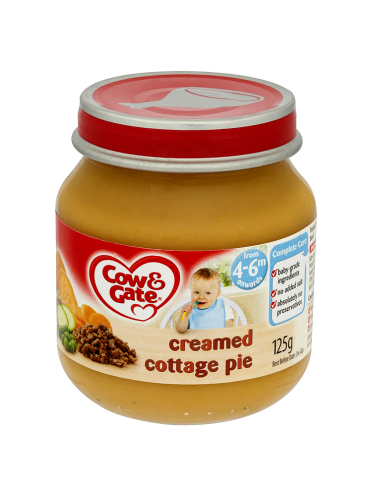Cow & Gate Creamed Cottage Pie from 4-6m Onwards 125g