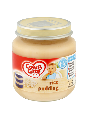 Cow & Gate Rice Pudding from 4-6m Onwards 125g