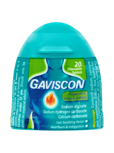 Gaviscon Peppermint Flavour Tablets 20 Chewable Tablets