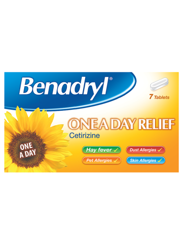 Benadryl One A Day Relief 7 Tablets