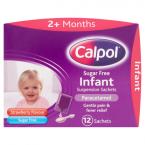 Calpol Sugar Free Infant Suspension Sachets Strawberry Flavour 2+ Months 12 x 5ml Sachets