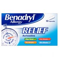 Benadryl Allergy Relief 12 Capsules