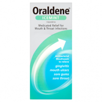 Oraldene Icemint Medicated Relief for Mouth & Throat Infections 200ml