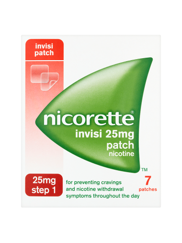 Nicorette Step 1 Invisi 25mg Patch Nicotine 7 Patches