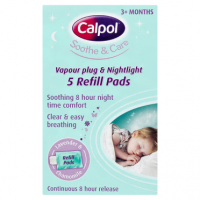 Calpol Soothe & Care Vapour Plug & Nightlight 5 Refill Pads
