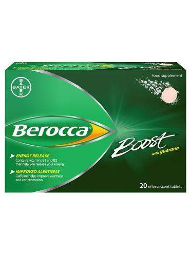 Berocca Boost with Guarana 20 Effervescent Tablets