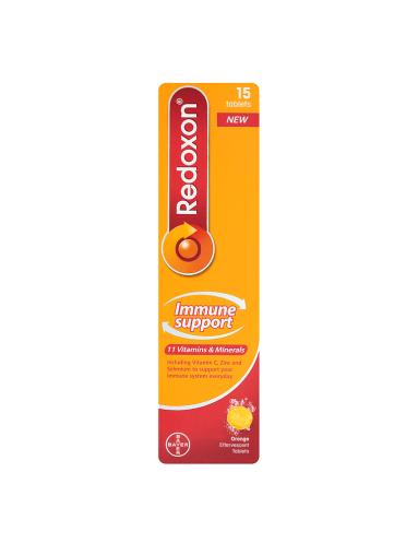 Redoxon Immune Support 15 Orange Effervescent Tablets