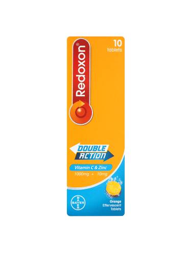 Redoxon Double Action Vitamin C & Zinc 10 Orange Effervescent Tablets