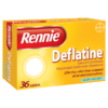 Rennie Deflatine Sugar Free Mint 36 Tablets