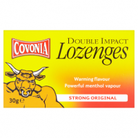 Covonia Double Impact Lozenges Strong Original 30g