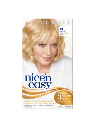 Nice 'n Easy Permanent colour #10 Natural Ultra Light Blonde (Former shade #87)