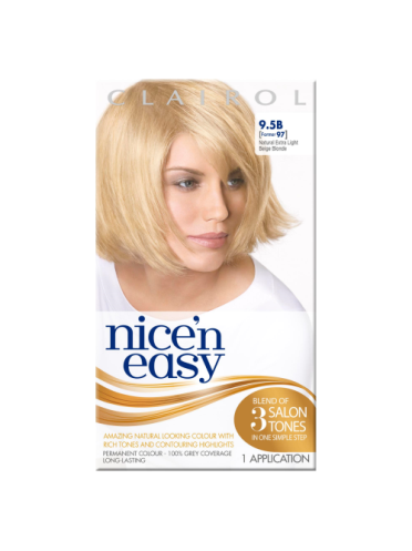 Nice 'n Easy Permanent colour #9.5B Natural Extra Light Beige Blonde (Former shade #97)