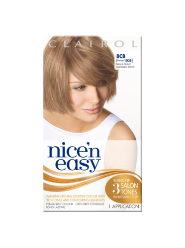 Nice 'n Easy Permanent colour #8CB Natural Medium Champagne Blonde (Former shade #103B)