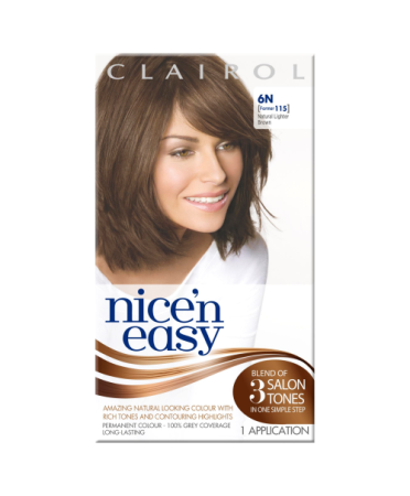 Nice 'n Easy Permanent colour #6N Natural Lighter Brown (Former shade #115)