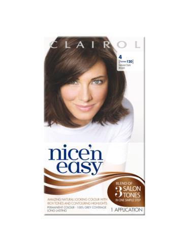Nice 'n Easy Permanent Hair Colour Natural Dark Brown #4