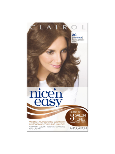 Nice 'n Easy Permanent colour #6G Natural Light Golden Brown (Former shade #116A)