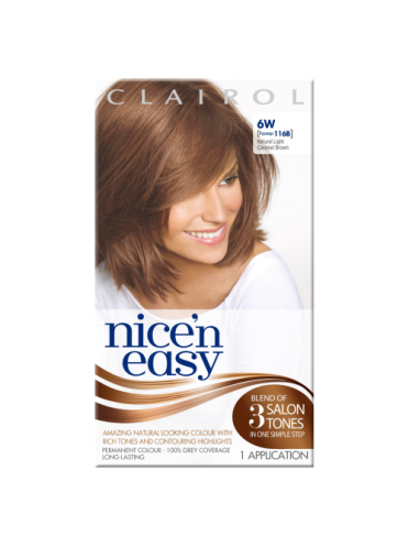 Nice 'n Easy Permanent colour #6W Natural Light Caramel Brown (Former shade #116B)