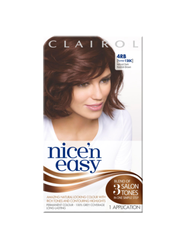Nice 'n Easy Permanent colour #4RB Natural Dark Reddish Brown (Former shade #120C)