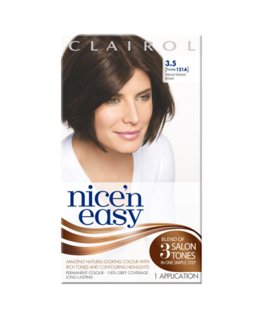 Nice 'n Easy Permanent colour #3.5 Natural Darkest Brown (Former shade #121A)
