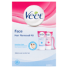 Veet Face Hair Removal Kit Sensitive Skin Aloe Vera and Vitamin E 2 x 50ml