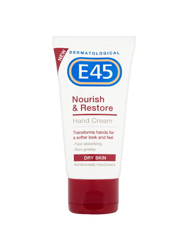 E45 Dermatological Nourish & Restore Hand Cream Dry Skin 50ml