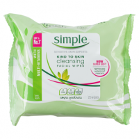 Simple Kind To Skin 25 Cleansing Facial Wipes