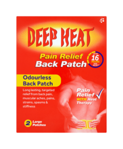 Deep Heat Pain Relief Back Patch 2 Large Patches