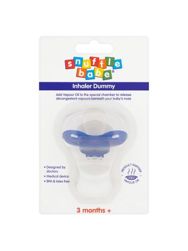 Snufflebabe Inhaler Dummy 3 Months +