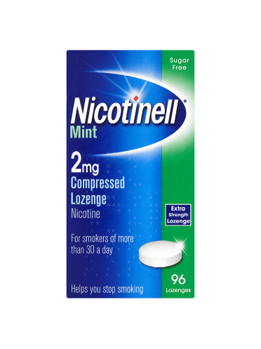 Nicotinell Mint 2mg Compressed Lozenge Extra Strength 96 Lozenges