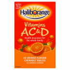 Seven Seas Haliborange Vitamins A C & D 60 Orange Flavour Chewable Tablets