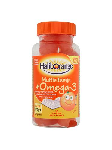 Seven Seas Haliborange Multivitamin + Omega-3 3-12yrs 30 Orange Fruit Shapes