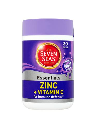 Seven Seas Essentials Zinc + Vitamin C 30 Capsules