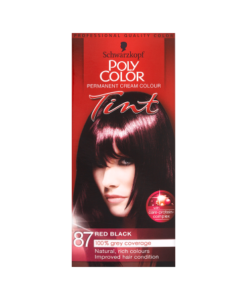 Schwarzkopf Poly Color Permanent Cream Colour Tint 87 Red Black