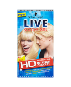 Schwarzkopf Live Color XXL HD Intense Colour Permanent Coloration 01 Ice Blonde
