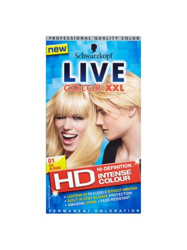 Schwarzkopf Live Color XXL HD Intense Colour Permanent Coloration 01 Ice Blonde
