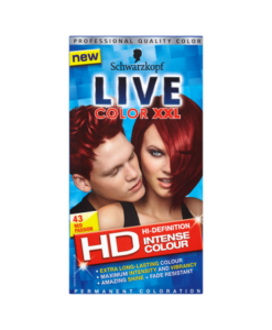 Schwarzkopf Live Color XXL HD Intense Colour Permanent Coloration 43 Red Passion