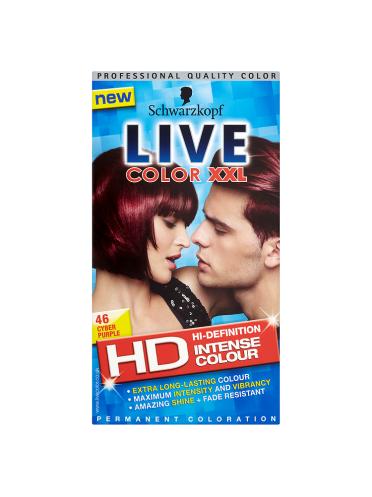 Schwarzkopf Live Color XXL HD Intense Colour Permanent Coloration 46 Cyber Purple